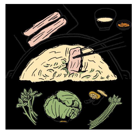 お好みで柚子胡椒やポン酢を加えても美味しく召し上がれます。〆の麺は別鍋で1分程茹でて、お鍋に入れて伸びないうちにすぐお召し上がりください。